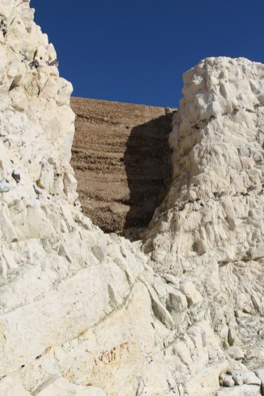 Chalk and flint cliffs, Splash Point, Seaford