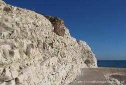 Chalk and flint cliffs, Splash Point, Seaford