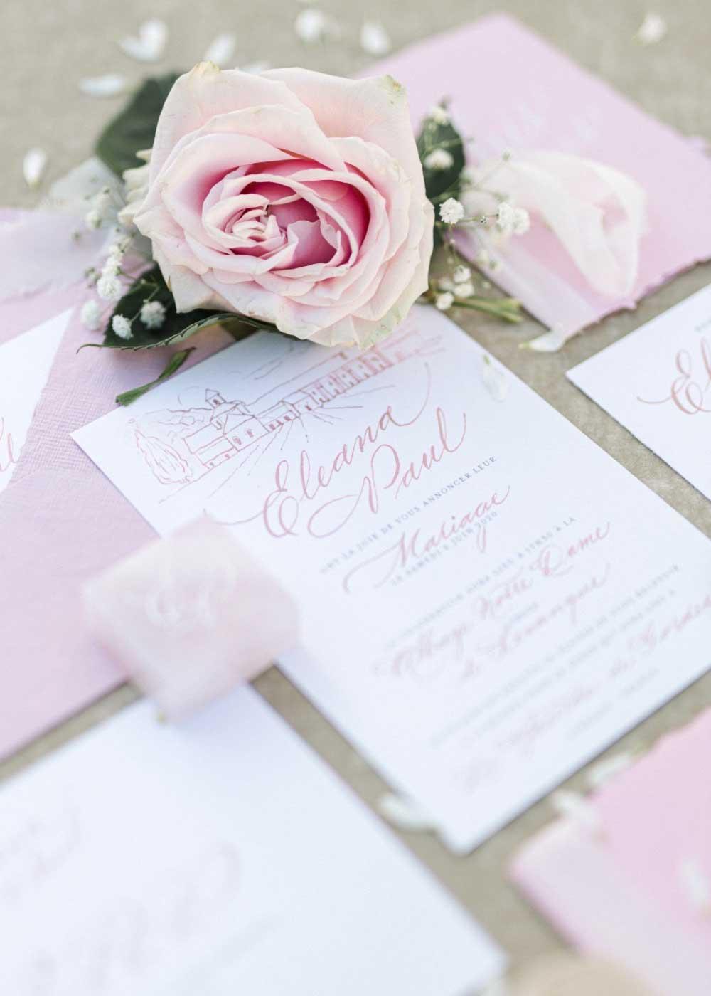 Pastel wedding invitations 2