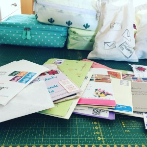 Pile of snailmail from all over the world due to Incowrimo 2019