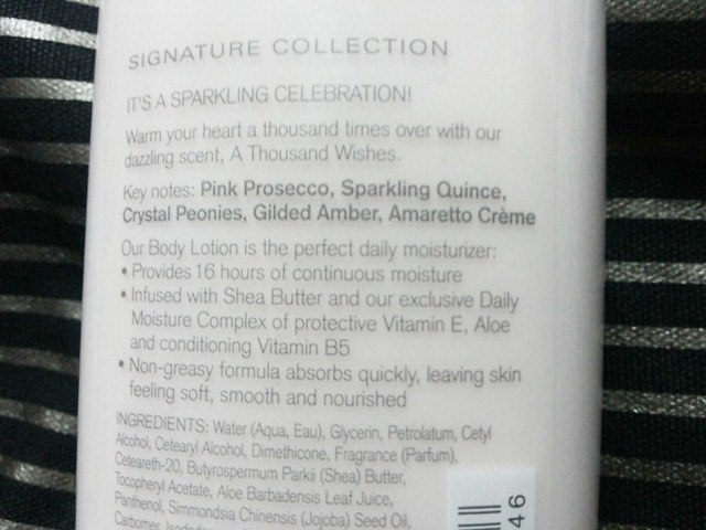 Bath Amp Body Works Body Lotion A Thousand Wishes Review