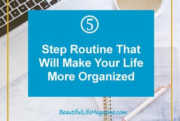 Whenever I start feeling overwhelmed and not so organized, I refer to these five steps to get on top of my life again and start enjoying my free time!