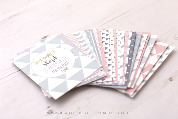 multi colour milestone cards