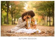 autumn photograp twin girls epsom