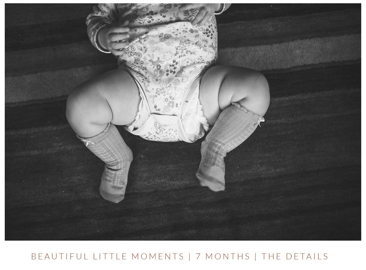 7 month old baby photo legs with rolls