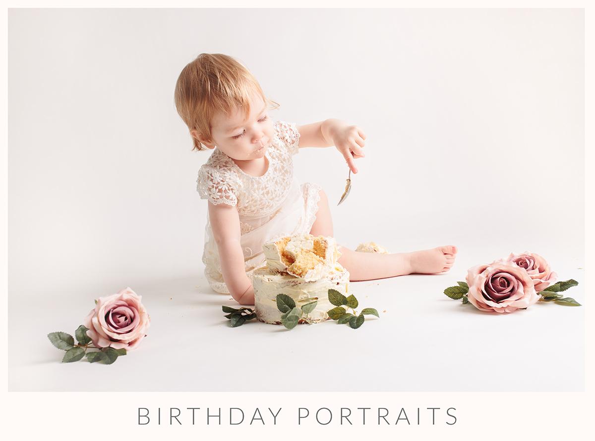 birthday cake smash photo shoot epsom