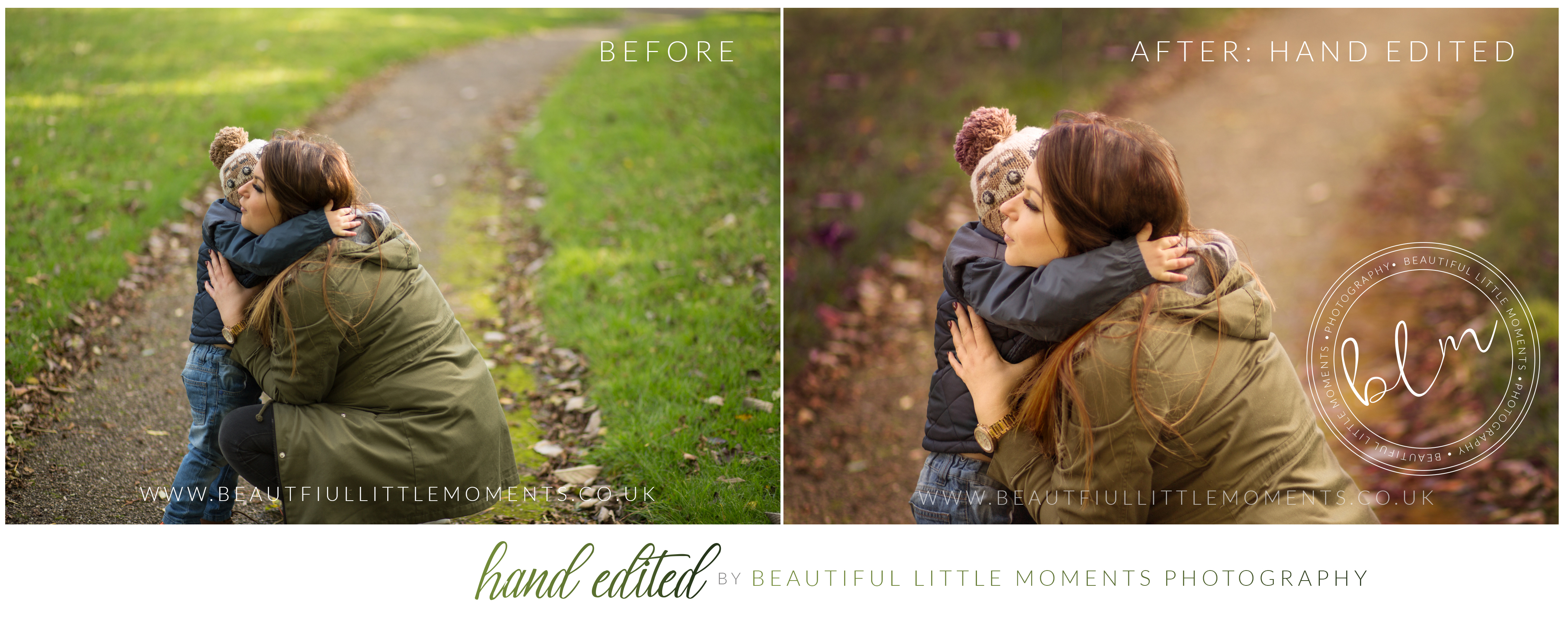 before and after edits outdoor photography epsom