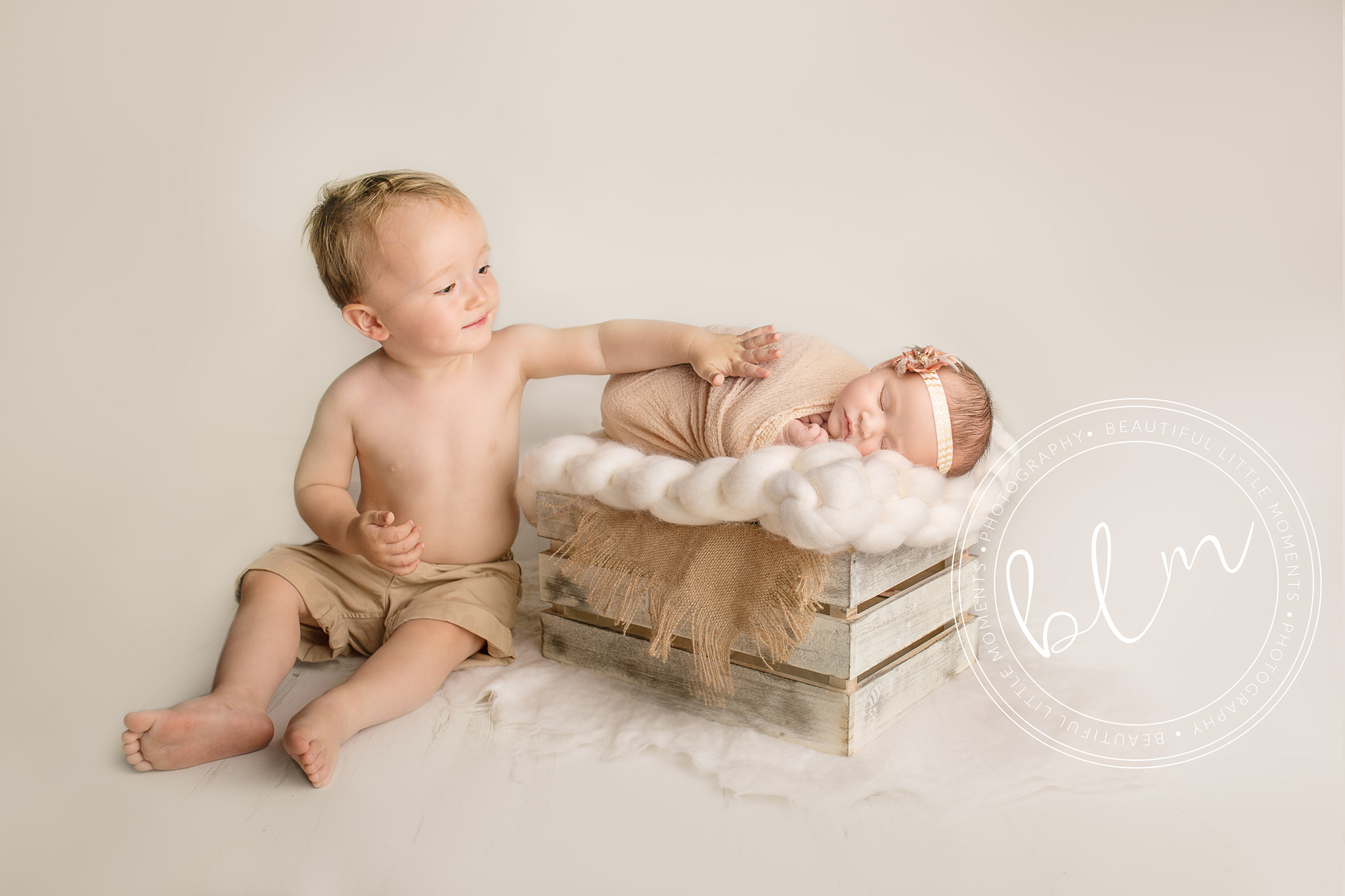 newborn baby with big brother photo shoot epsom surrey