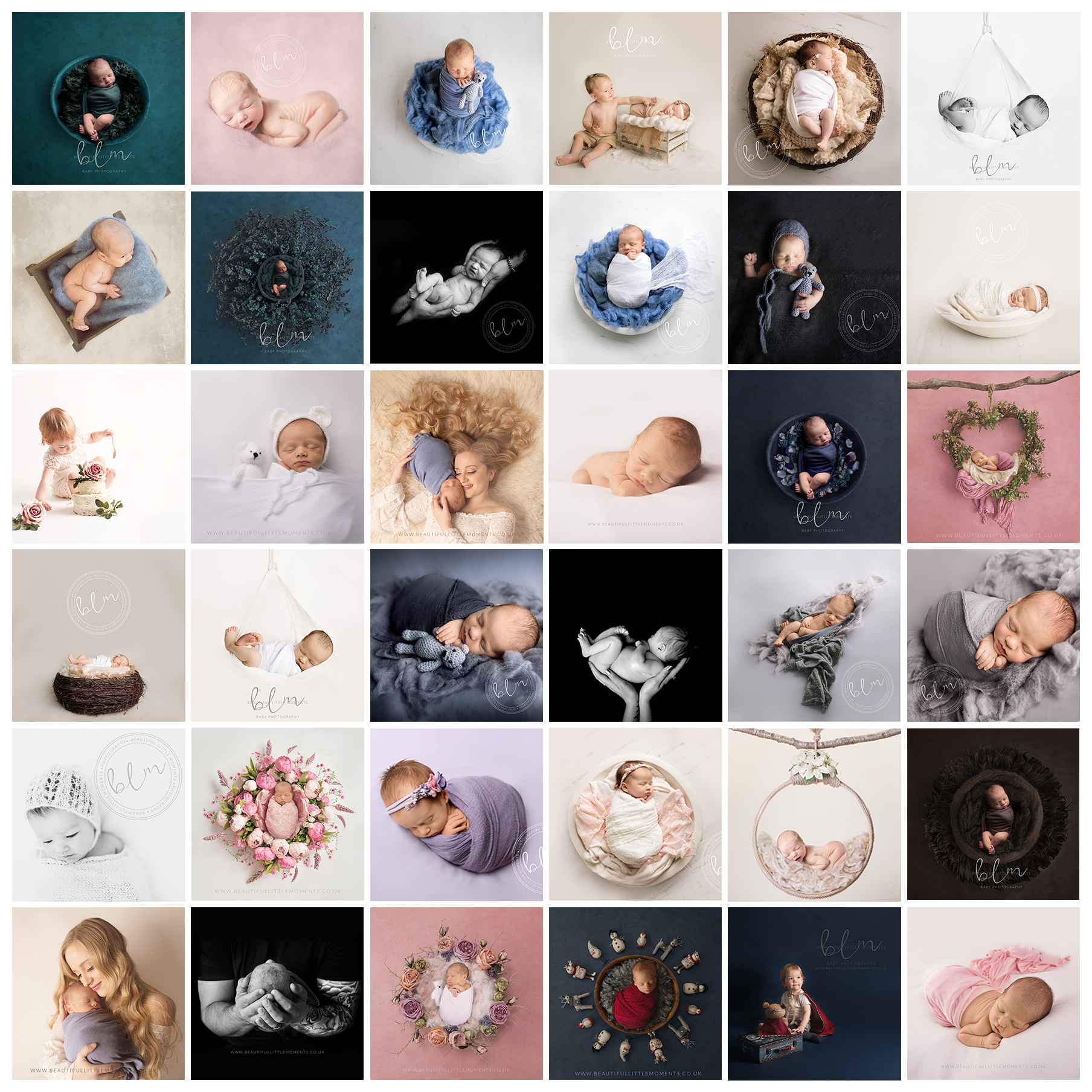 insta grid of images