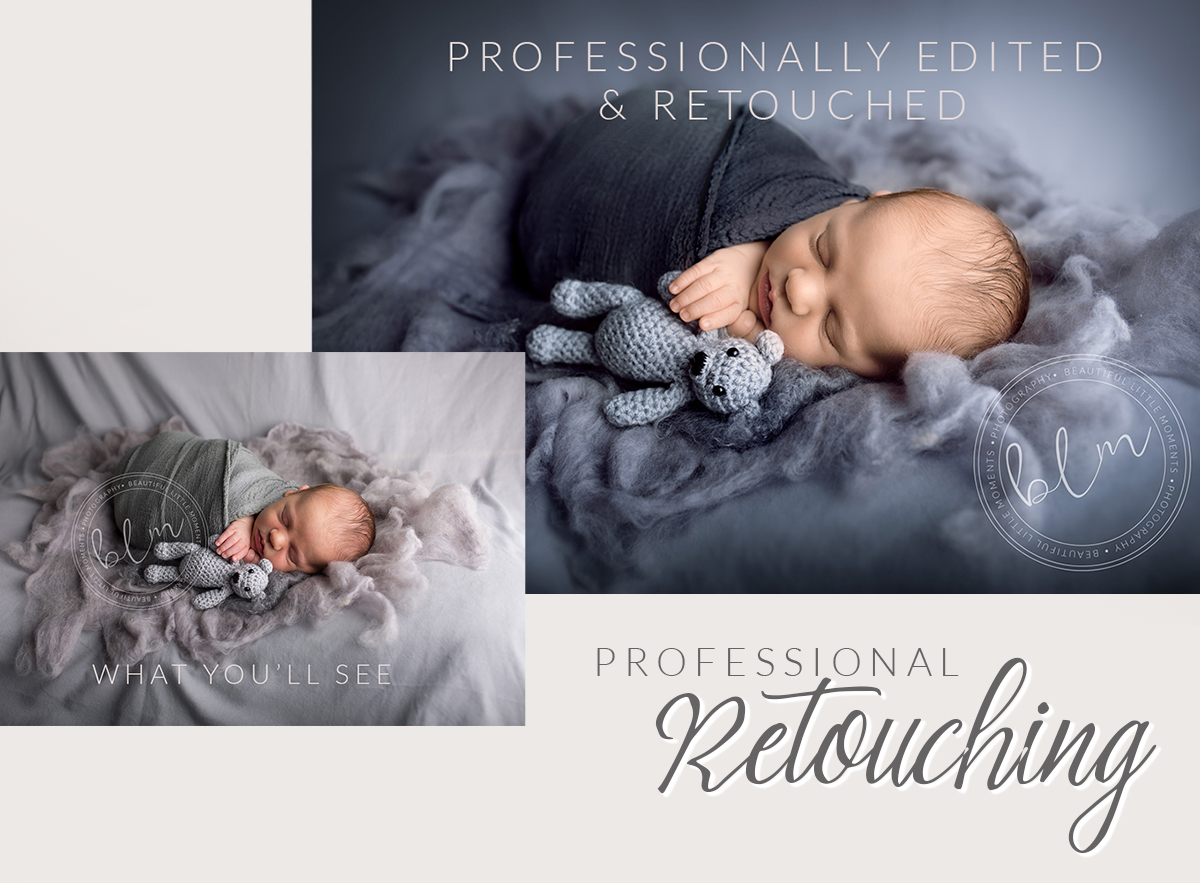 Beautiful Baby Photographs Professional Retouching