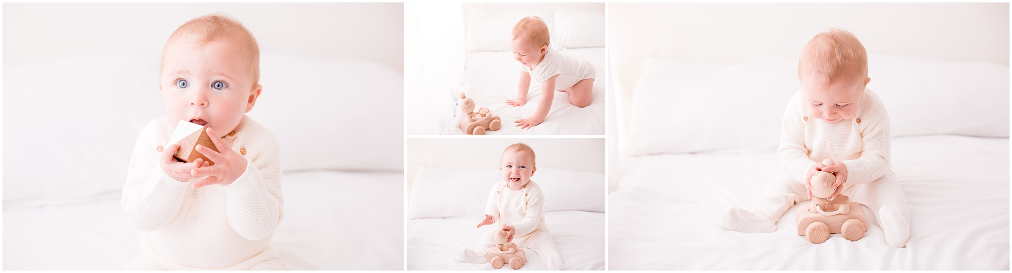older baby photo shoot with lovely wooden toys epsom surrey