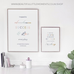 abundance, success & love print