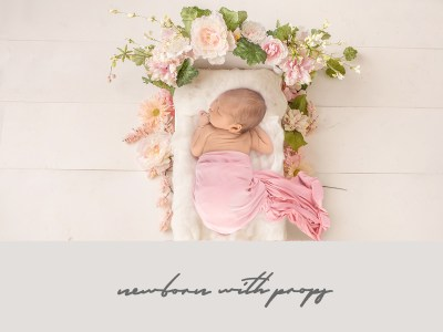 newborn photography with props epsom surrey