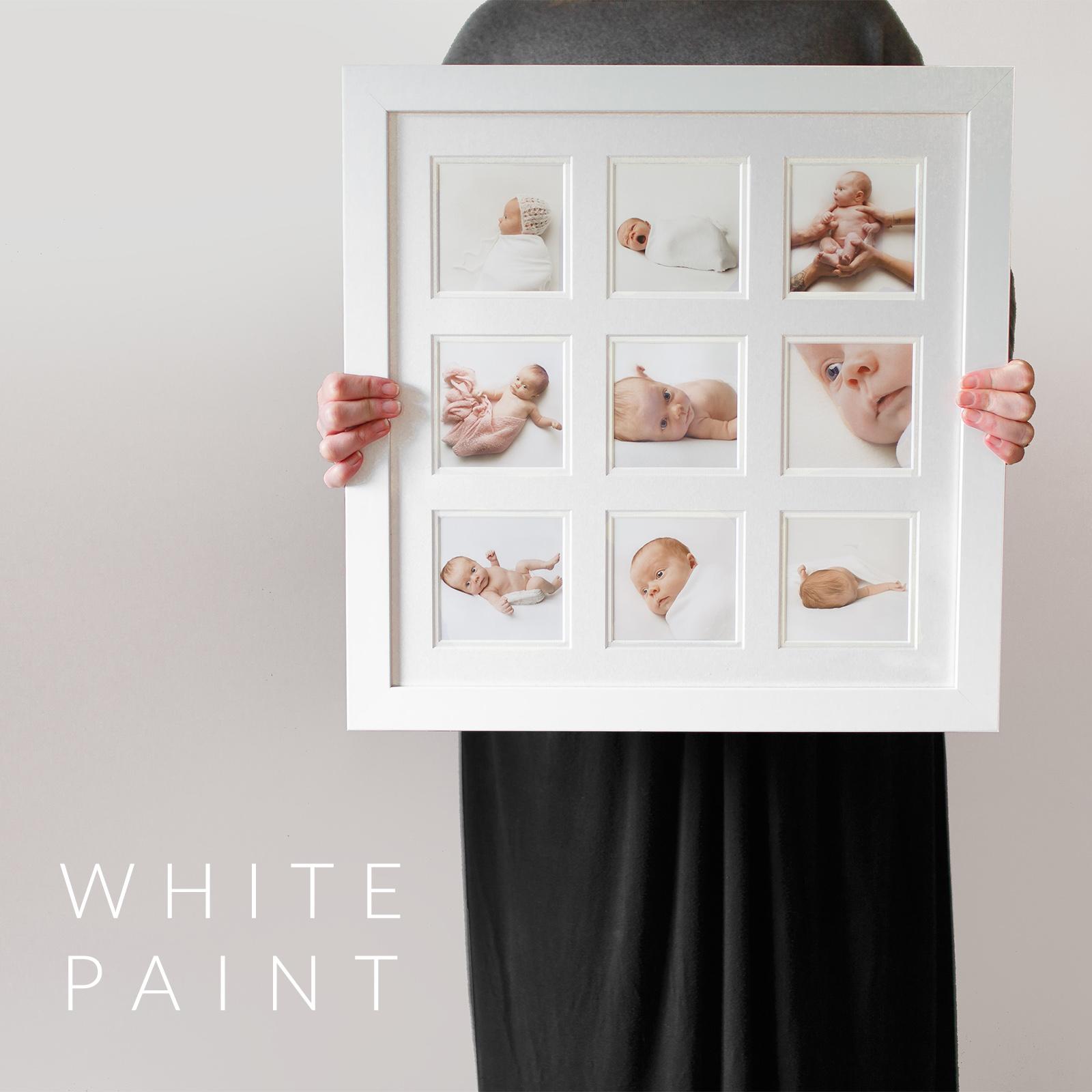 9 image frame white paint