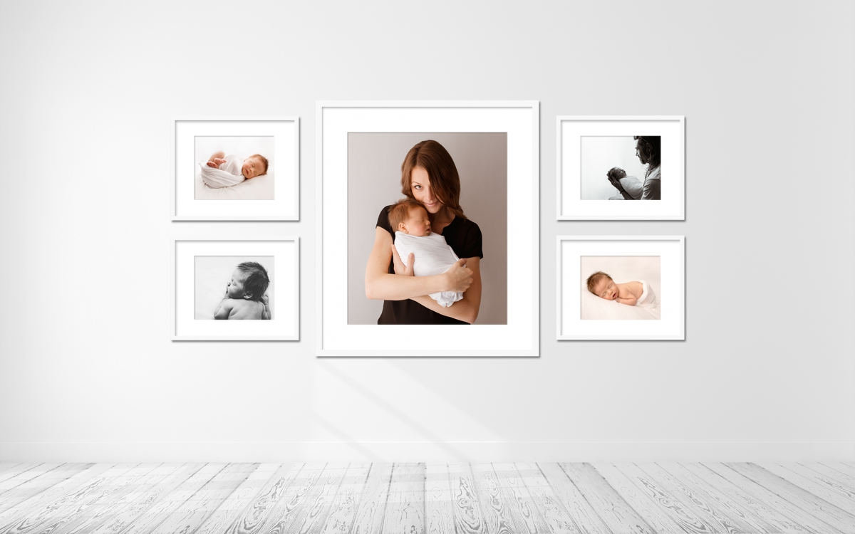 baby-16days-sitting-3.5-weeks-framed-wall