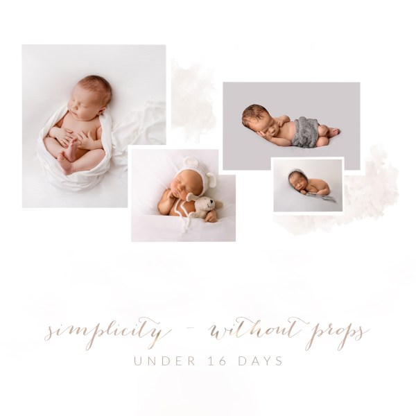 newborn simplicity session without props