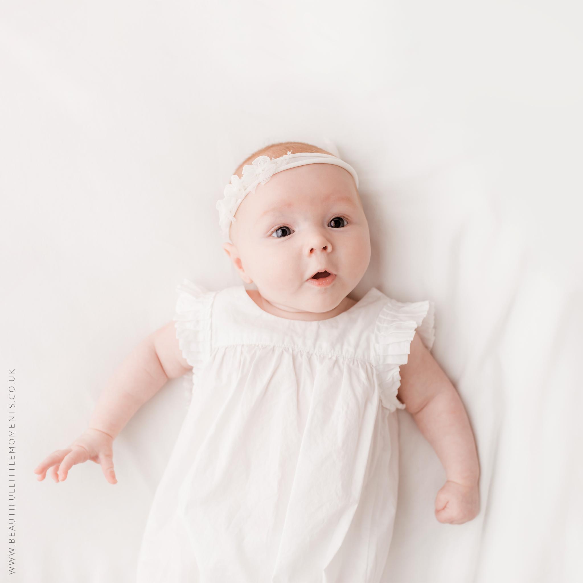12 week old baby girl baby photo shoot epsom surrey