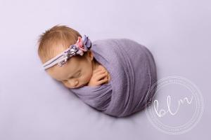 newborn-baby-girl-purple-wrap-headband-epsom-surrey