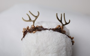 Brown antler-headband