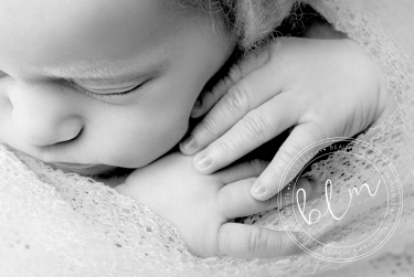 newborn baby photo black and white close up