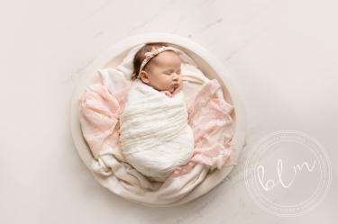 newborn-baby-photo-shoot-epsom-surrey-white-pink-rustic-bowl