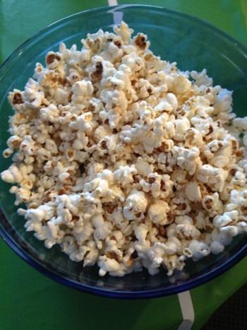 superbowl parmesan popcorn