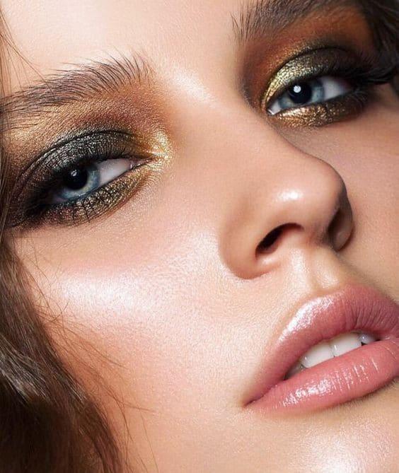 3 feestelijke makeup looks Shine metallic makeup