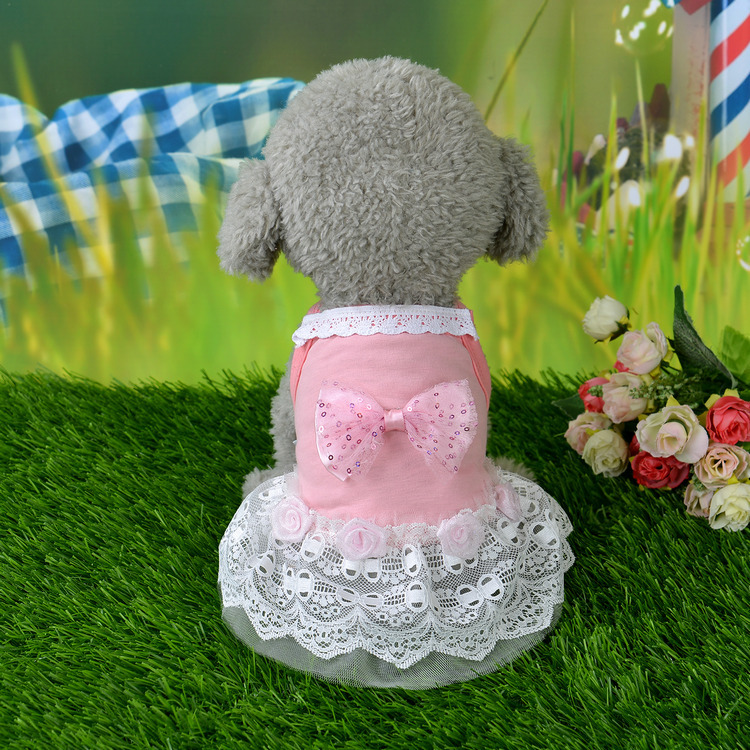 5d8582182 Pretty in Pink Bow Dog Dress – Beautiful Puppy Grooming Salon & Boutique