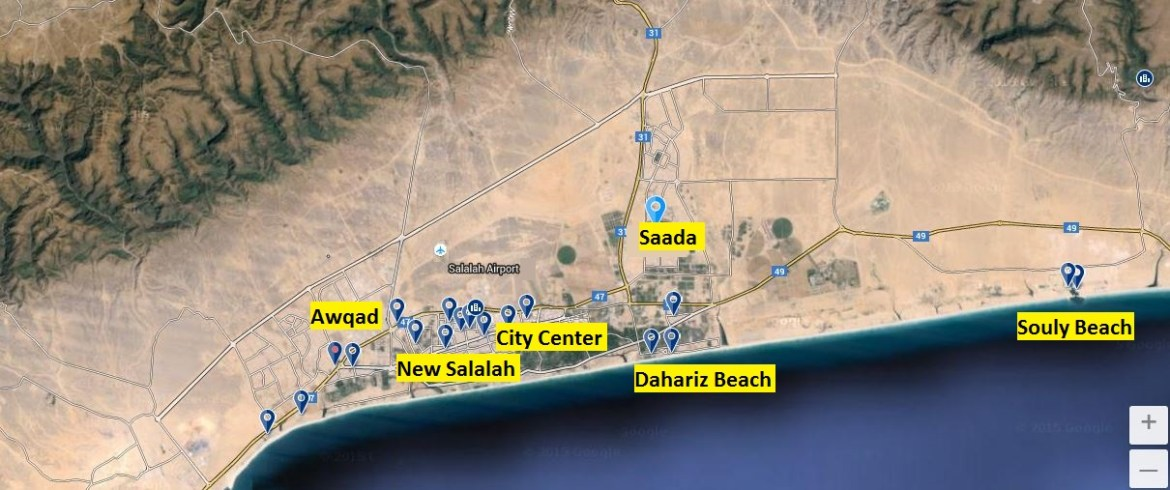 Salalah Hotels Locations