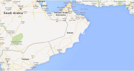 Salalah oman map where is salalah in the world salalah oman map gumiabroncs Choice Image