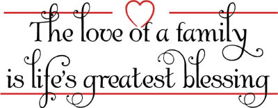 Download Love Of Family Lifes Blessings - Beautiful Wall Decals