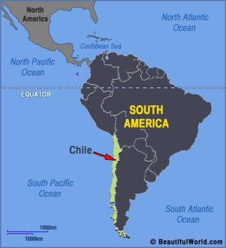 Image result for map of chile