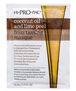 Hi Pro Pac Coconut Oil and Lime Peel Frizz Taming Hair Masque 52ml