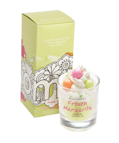 Bomb Cosmetics Piped Glass Candle - Frozen Margarita