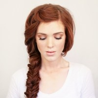 Side braid red hair