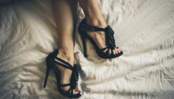 Woman feet shoes high heels