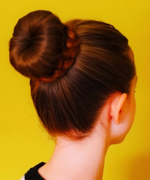 The classic up bun