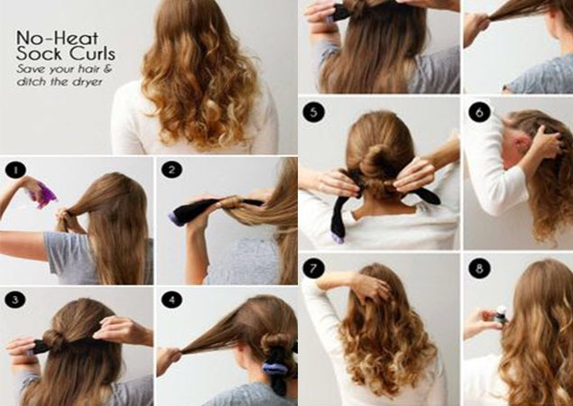 sock hair curl