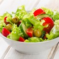 Fresh mixed vegetables salad