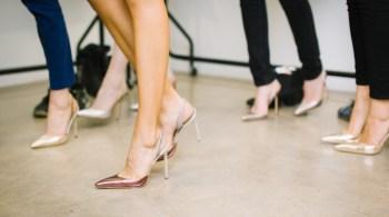 woman legs high heels