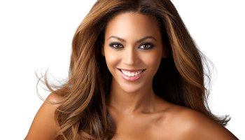 Beyonce dark skin - white background