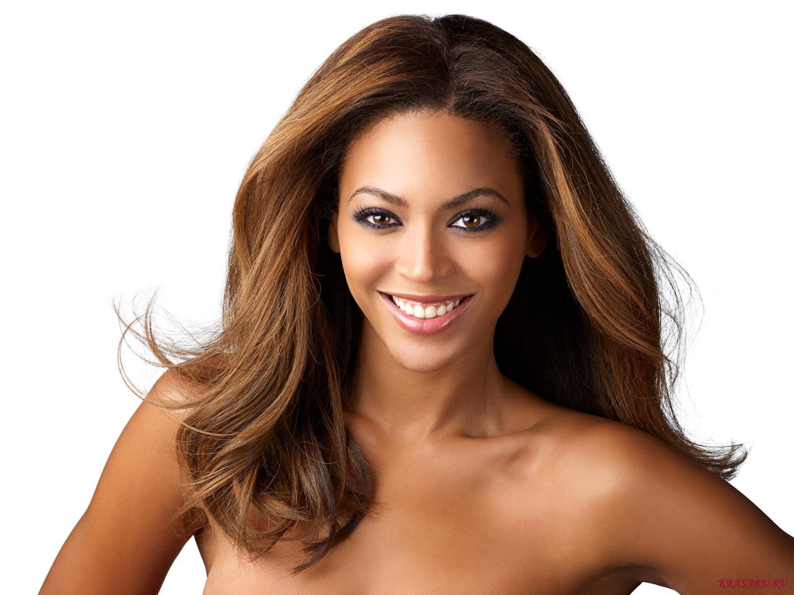 Beyonce dark skin – white background