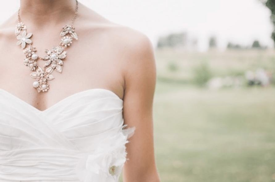 bride statement necklace