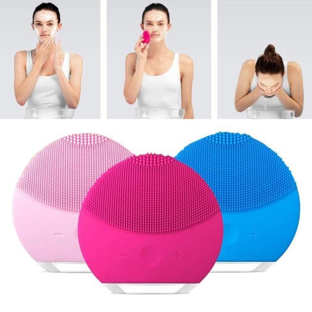 Face Cleaning Beauty Gadget - Waterproof Ultrasonic Skin Deep Cleanser & Massager