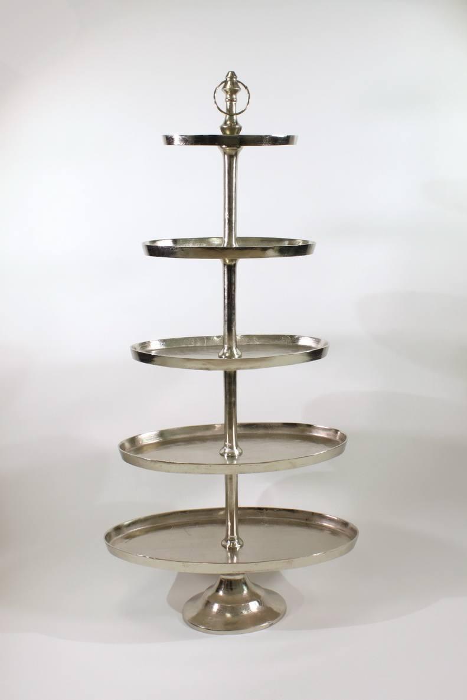 xxl etagere adlon 5 stockig vernickelt h 170 cm oval