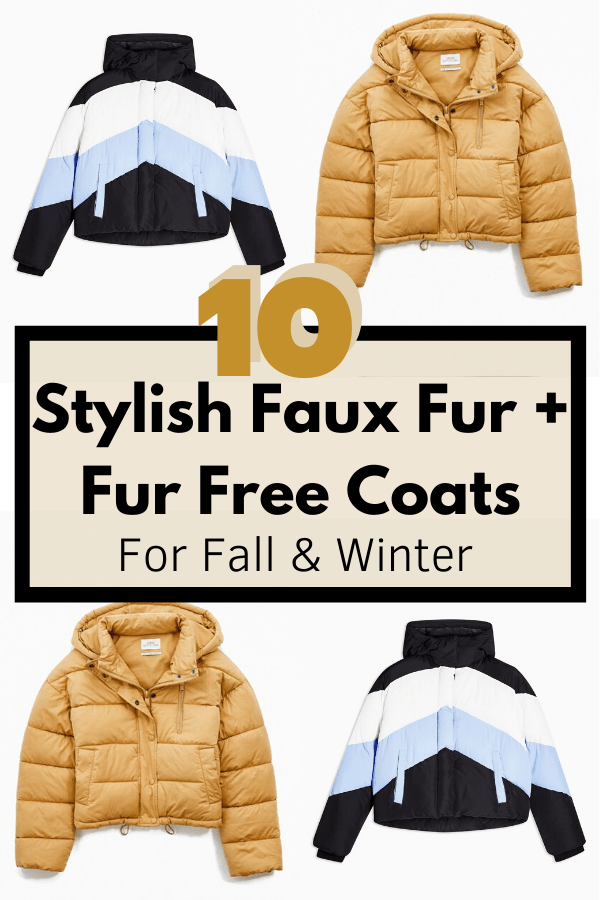 stylish faux fur free coats fall winter