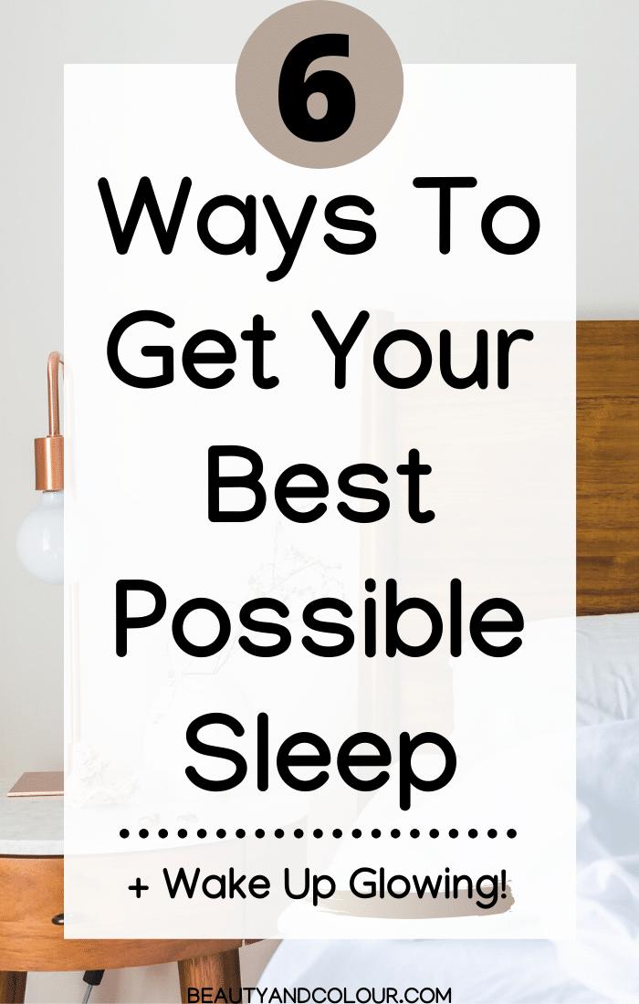 Best Beauty Sleep Tips Get Glowing Skin