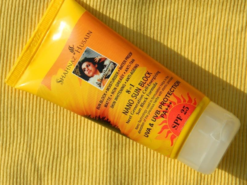 Shahnaz Husain 8 in 1 Nano Sun Block Review
