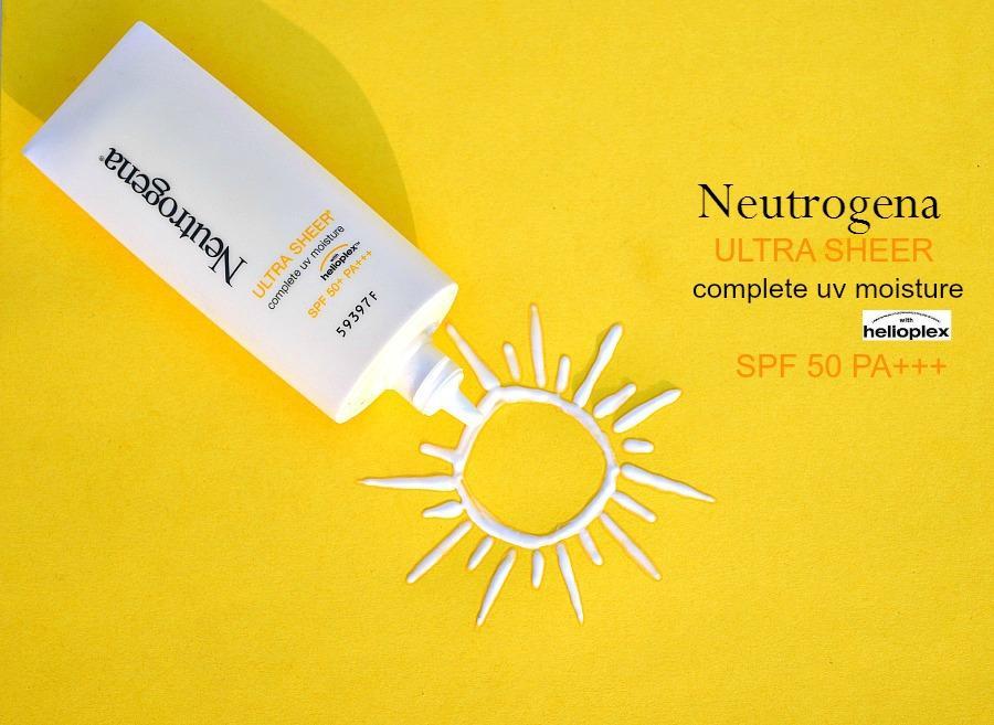 Neutrogena Ultra Sheer Complete UV Moisture SPF 50 Review