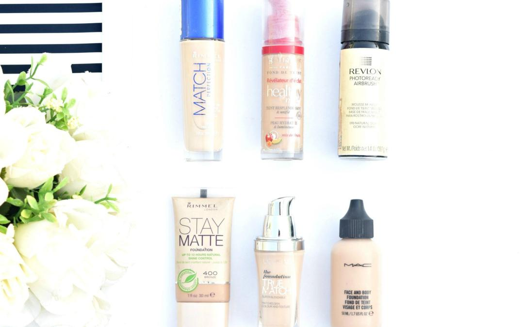 Liquid Foundations Review: Bourjois, Rimmel, L'oreal, Revlon, MAC!